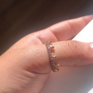 Pandora Rose Gold crown ring